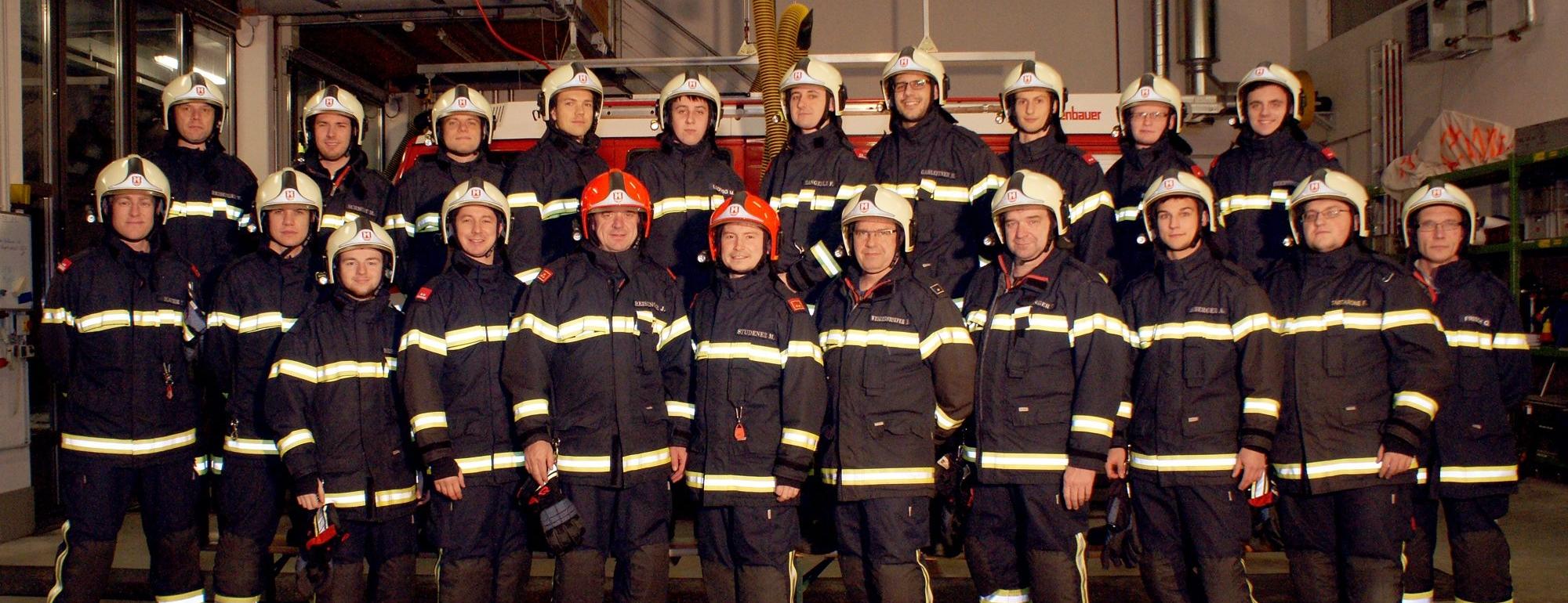 Die Mannschaft der Feuerwehr Ebelsberg